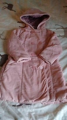 JoJo Maman Bebe girls cosy winter coat age 2-3