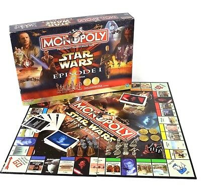 Star Wars Episode 1 Monopoly Collectors Edition Board Game
