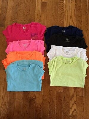 Justice Girls Short Sleeve T-shirts - Lot of 8 - Size 10 - Varying Colors