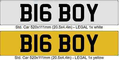 Big Boy personalised/cherished number plate