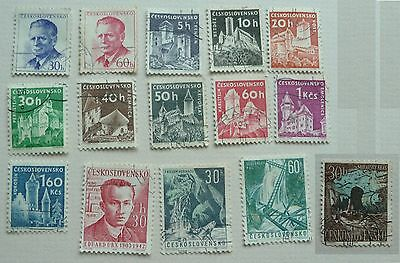 15 stamps of Czechoslovakia, 1958 to 1963. Used.