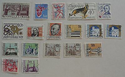 18 stamps of Czechoslovakia, 1963 to 1965. Used.