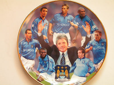 Manchester City FC 2002 Division One Champions Danbury Mint Collector Plate