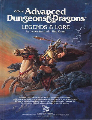 Official Advanced Dungeons & Dragons Players Handbook and Legends and Lore