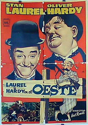 Way Out West Res/ 15664/ Laurel & Hardy/ 1937/ James W. Horne/ / Poster