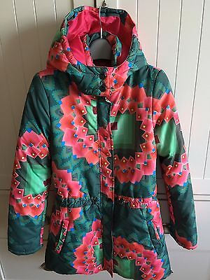 Used Desigual Coat With Detachable Hood For Girls 13/ 14 Years