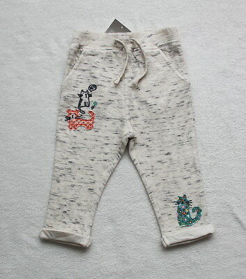 ***BNWT Next girl Cat slim soft cotton trousers joggers 3-6 months***