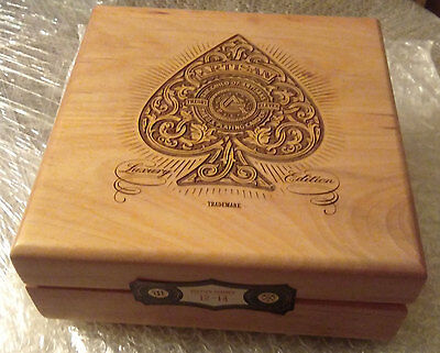 Artisan Luxury Collectors Lazer Etched Wood Box By Theory11 - No Playing Cards