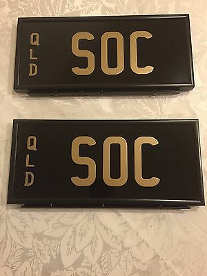 Soc (Stralya Our Country) Personalised Number Plates Qld.