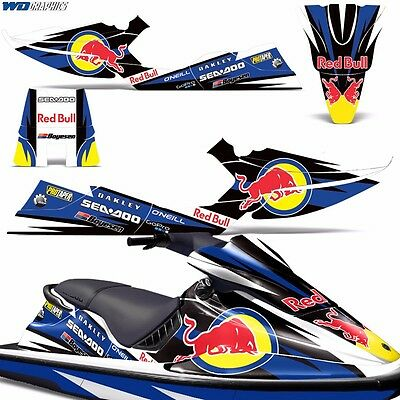 Decal Graphic Kit Sea-Doo XP Jet Ski Wrap Jetski Decal Parts Seadoo Deco 94-96 b