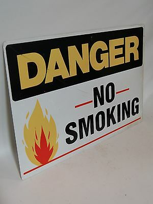 Danger No Smoking Open Flame Cautionary Sign Factory Warehouse