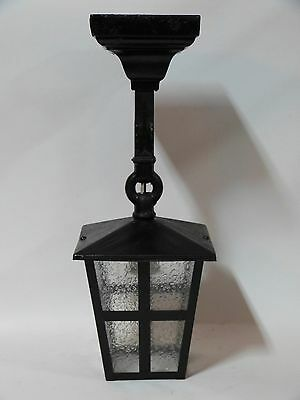 Arts & Crafts Textured Glass Square Lantern Craftsman Bungalow Mission Porch