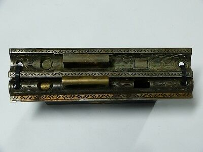 Pair of Pocket Door Mortise Locks with Mating Faces Victorian Salvage