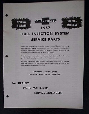 1957 Rochester Ramjet Fuel Injection Original Special Release Service Booklet