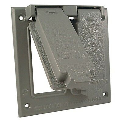 Hubbell-Bell 5145-0 2-Gang Two Gfci Box Mount Weatherproof Cover