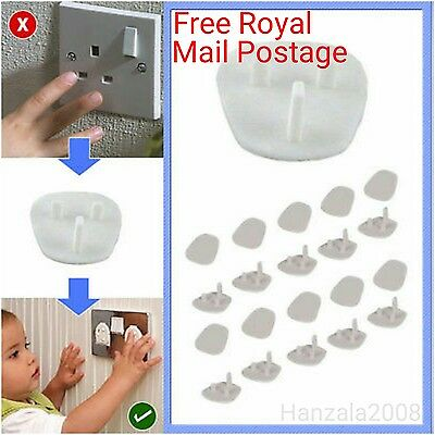 20 x Plug socket Covers Babies Children Safety Protector Mainly for UK Sockets