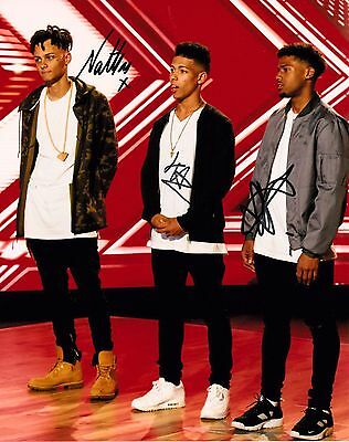 5 AFTER MIDNIGHT (5AM) FULLY SIGNED 10x8 PHOTO - X Factor 2016
