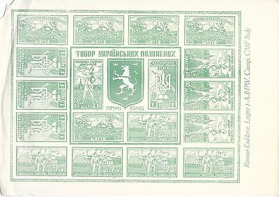 """Rare """"Society of Ukrainian Stamp Collectors Soldiers"""" Stamps, Rimini 1946"""