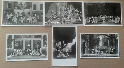 Lot Of 6 Vintage Ballet Dancer Postcards From Ballets Russes Productions