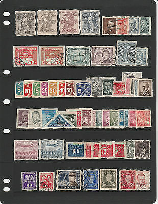 CZECHOSLOVAKIA 1940s remainder collection , several better stamps noted