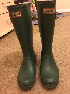 Green Hunter Wellington Boots Size 1