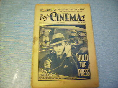 BOYS CINEMA issue 753 -FILM REVIEWS 1934 - TIM McCOY FEATURE