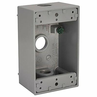 Hubbell-Bell 5324-0 Single Gang 3-3/4-Inch Outlets Weatherproof Box