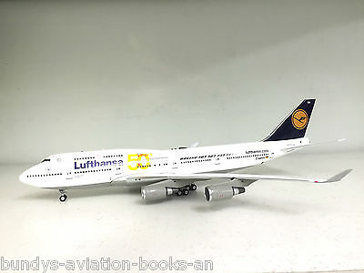 Boeing 747-400 Lufthansa D-ABVH, '50 Years' with a metal stand in 1/200 scale