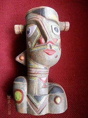 Beautiful Abstract Pottery Figure. Tribal? Unmarked. Age & Origin Unknown.
