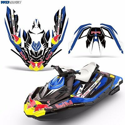 Decal Graphic Kit Wrap Jetski Rotax Bombardier Parts Sea-Doo 3up Spark 2015+ r