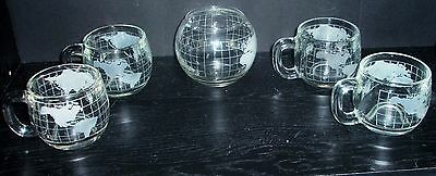 Vintage set of 4 Nescafe coffee mugs sugar bowl 5 piece set Nestle exc cond