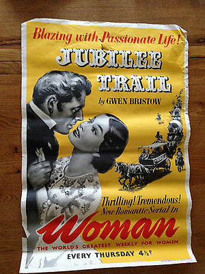 "Original 1950s WOMAN magazine poster ""Gwen Bristow - Jubilee Trail"" serial"