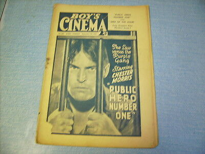 BOYS CINEMA issue 821 -FILM REVIEWS 1934 -PUBLIC HERO NUMBER ONE