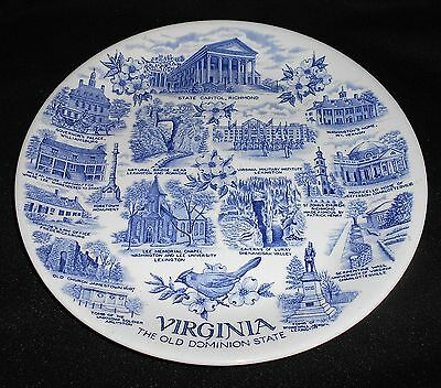 Vintage Alfred Meakin for Jonroth Pottery Virginia Pictorial Dinner Plate