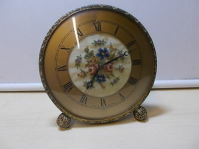 Great Vintage Smiths Guilt Cased Mantle Clock, G.W.O.