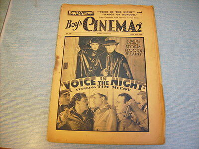 BOYS CINEMA issue 763 -FILM REVIEWS 1934 - VOICE IN THE NIGHT - Tim McCoy