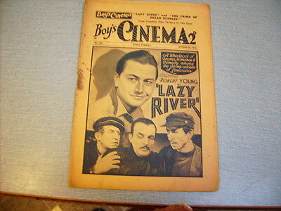 BOYS CINEMA issue 764 -FILM REVIEWS 1934 - ROBERT YOUNG  feature