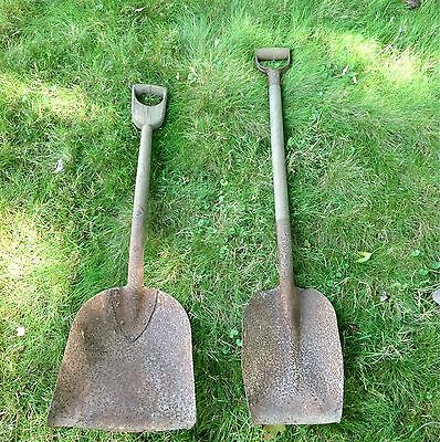 Lot of 2 antique 1880s wood D handle coal scoop shovels (Pickup Only!!!)