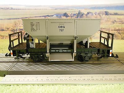 LGB 4041 Ballast Hopper Wagon OEG grey livery N0 737 Excellent boxed condition.