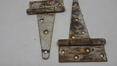 Vintage 2 Rusty Barn Door Gate T Strap Steel Hinges Rustic Decor Old Barn Find 5