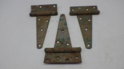 Vintage 3 Rusty Barn Door Gate T Strap Steel Hinges Rustic Decor Old Barn Find 7