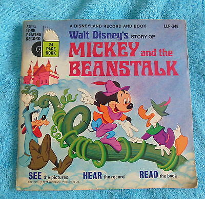 Walt Disneys Story of MICKEY and the BEANSTALK LLP 348 Disneyland Record & Book