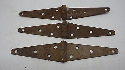 Vintage 3 Rusty Barn Door Gate Strap Steel Hinges Rustic Decor Old Barn Find 9