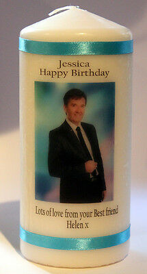 Personalised Daniel O'Donnell Candle Gift Unique Keepsake Present Pillar CAndle