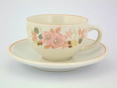 2x BOOTS Hedge Rose Cups and Saucers ( 6 sets available) - DISCONTINUED