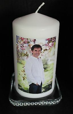 Cellini Candles Daniel O'Donnell Classic Designed Gift -  Images on Back & Front