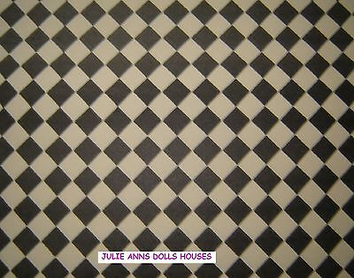 DOLLS HOUSE FLOORING LINO DIAMOND WALLPAPER, 12TH scale,  NEW, JULIE ANNS