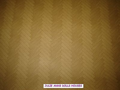 DOLLS HOUSE FLOORING LINO PARQUET WALLPAPER, 12TH scale,  NEW, JULIE