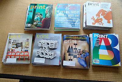 Huge 40 issue lot! PRINT America's Graphic Design magazine 4 complete years (NR)
