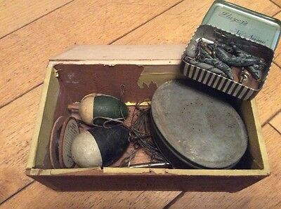 Old Box Of Vintage Fishing Tackle.